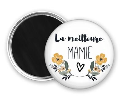 Badge magnet meilleure tata, marraine, mamie, maman, nounou
