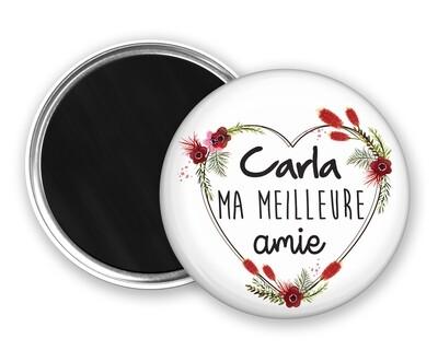 Badge magnet meilleure nounou, amie, collègue, cousine, sœur