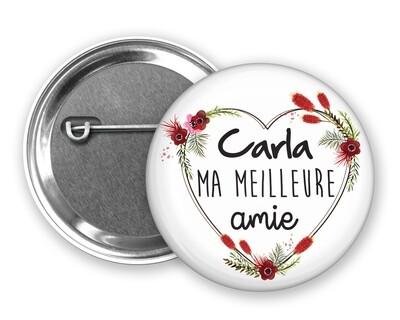Badge épingle meilleure nounou, amie, collègue, cousine, sœur