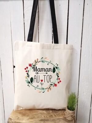Tote bag personnalisable au top marraine, mamie, tata, etc..