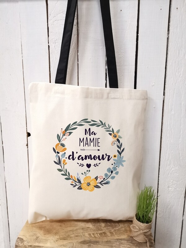 Tote bag d'amour personnalisable mamie, tata, etc..