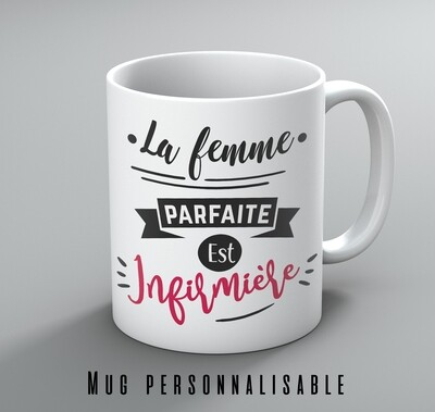 Mug femme parfaite avec votre mot personnalisable