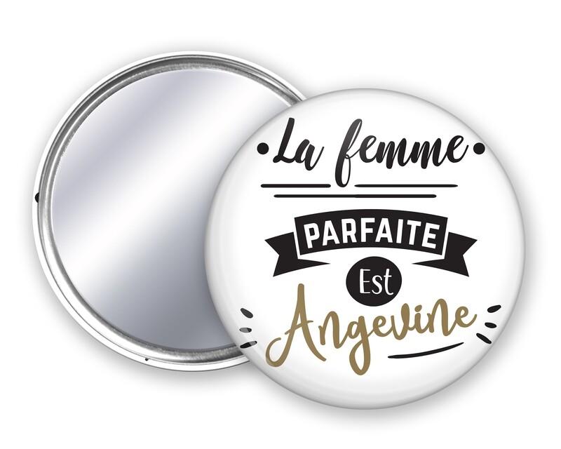 Badge miroir femme parfaite votre mot personnalisable