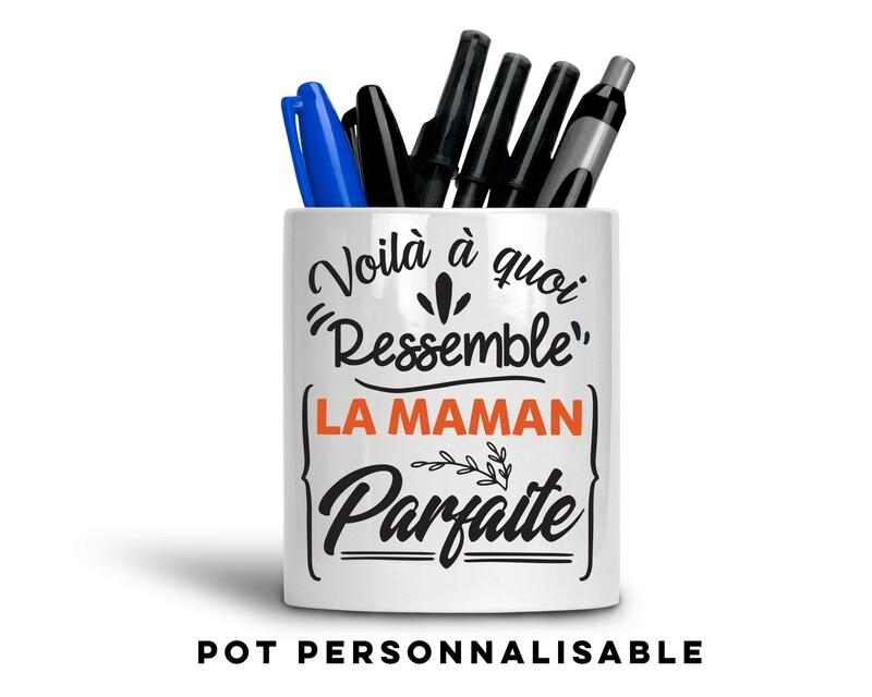 Pot à crayons à quoi ressemble avec votre mot personnalisable