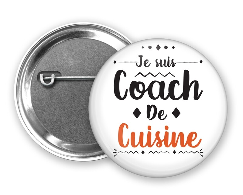 Badge épingle coach de mot personnalisable