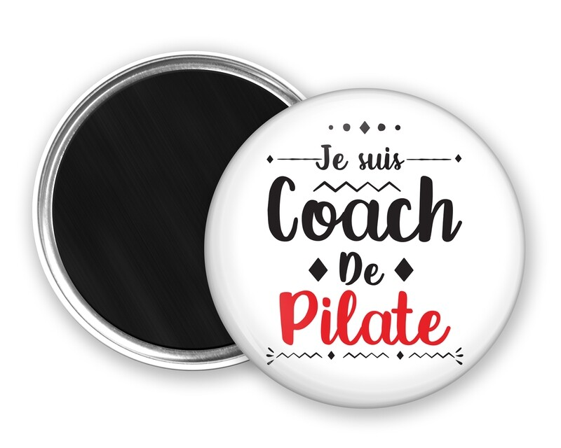 Badge magnet coach de mot personnalisable