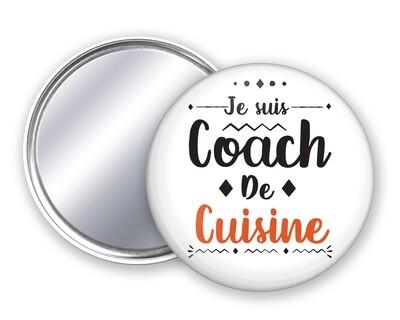 Badge miroir coach de votre mot personnalisable