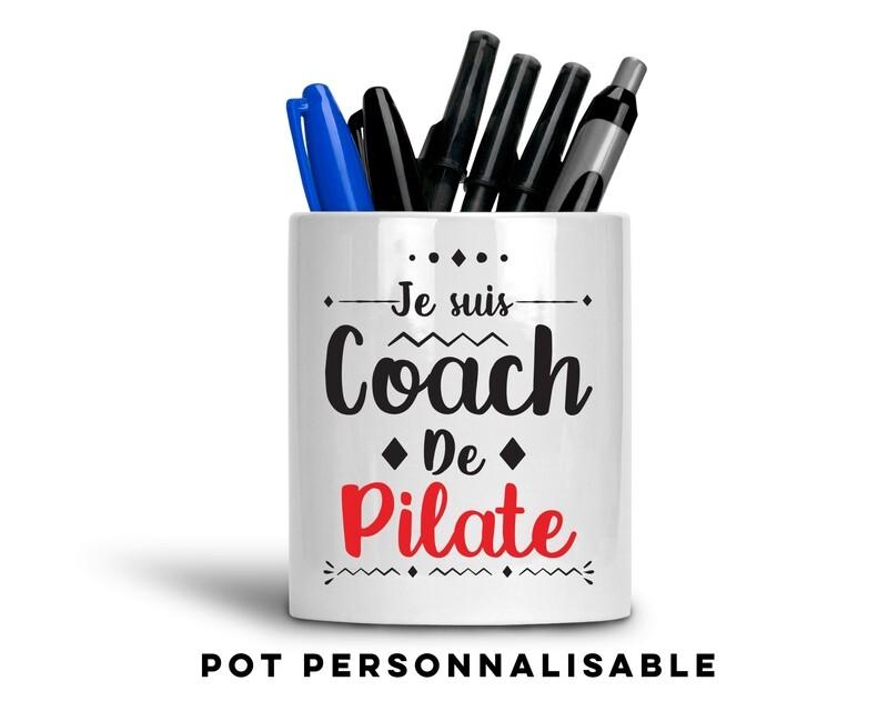 Pot à crayons coach de avec votre mot personnalisable