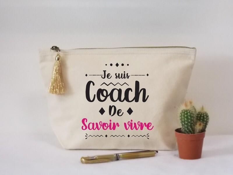 Trousse coton coach de personnalisable avec votre mot
