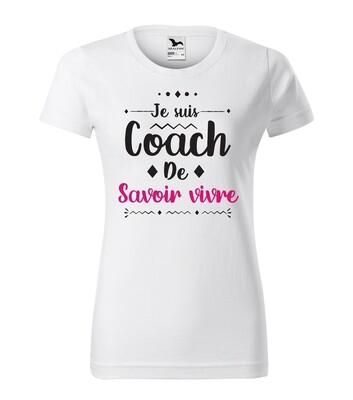 Tee shirt femme coach de votre texte personnalisable