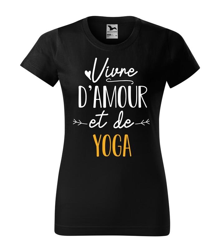 Tee shirt femme vivre d'amour et de votre texte personnalisable