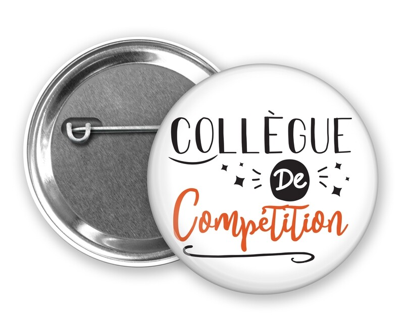Badge épingle collègue de mot personnalisable