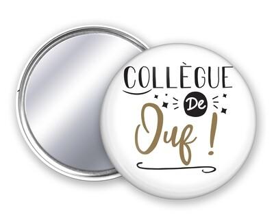 Badge miroir collègue de votre mot personnalisable