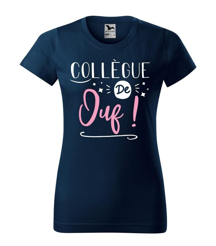 Tee shirt femme collègue de votre texte personnalisable
