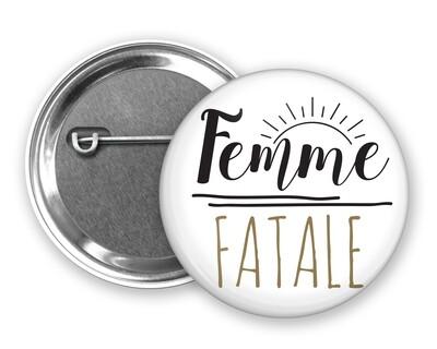 Badge épingle femme au et votre mot personnalisable