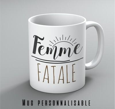 Mug femme et votre mot personnalisable