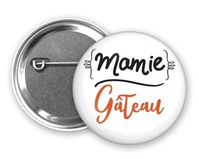 Badge épingle mamie et votre mot personnalisable