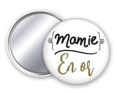 Badge miroir mamie et votre mot personnalisable