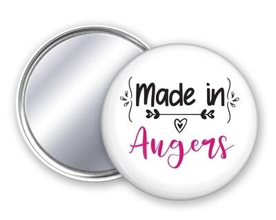 Badge miroir made in votre mot personnalisable