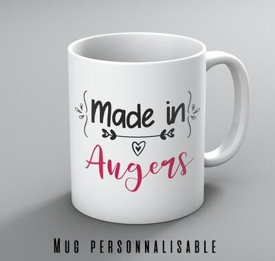 Mug made in et votre mot personnalisable