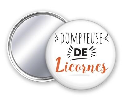 Badge miroir dompteuse de votre mot personnalisable