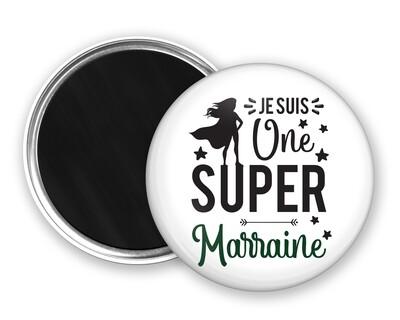 Badge magnet une super et votre mot personnalisable