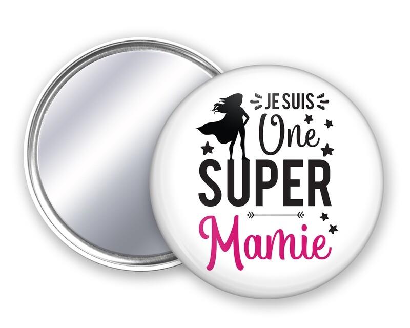 Badge miroir une super et votre mot personnalisable