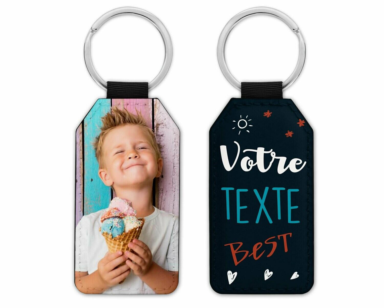 Porte clés avec la photo et le texte de votre choix