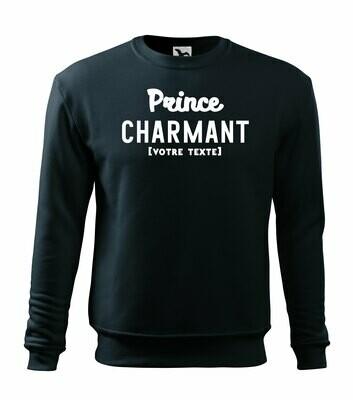 Sweatshirt Prince charmant, personnalisable