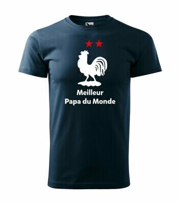Tee shirt homme meilleur papa du Monde