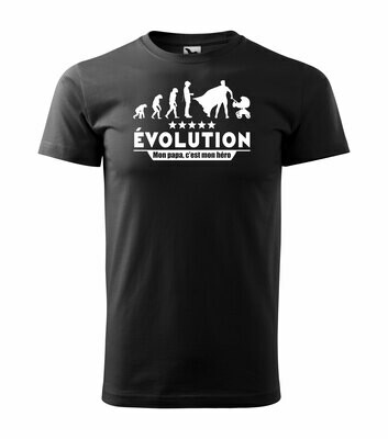 Tee shirt homme evolution papa