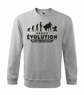 Sweatshirt homme evolution papa