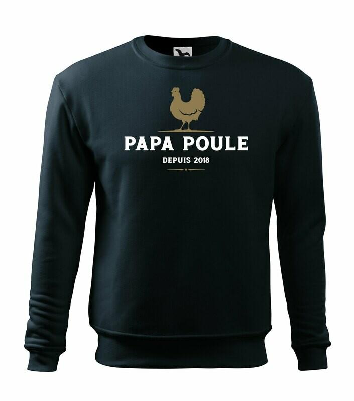 Sweatshirt Papa Poule, personnalisable