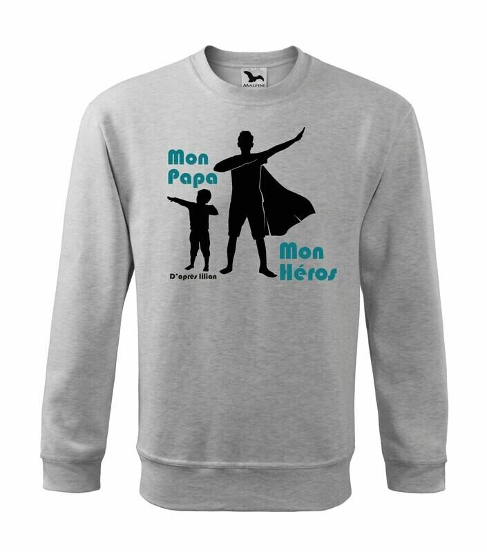 Sweatshirt papa héros personnalisable