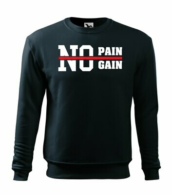 Sweatshirt no pain, no gain