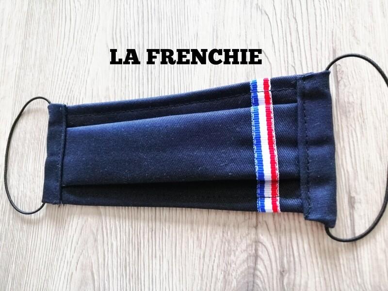 Masque à 2 plis lavable en coton écologique fait main - Frenchie