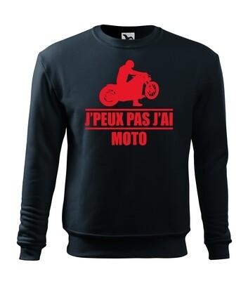 Sweatshirt je peux pas j'ai moto