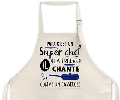 """Tablier personnalisable """"Chante casserole"""""""