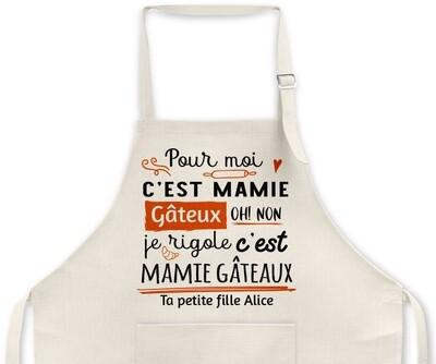 """Tablier personnalisable """"Gâteaux"""""""