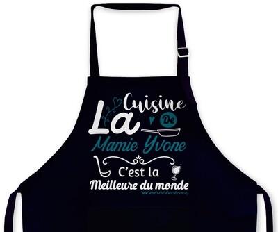 """Tablier personnalisable """"La cuisine"""""""