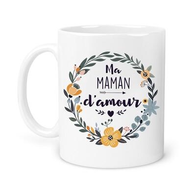 "Mug personnalisable ""fleur jaune"""