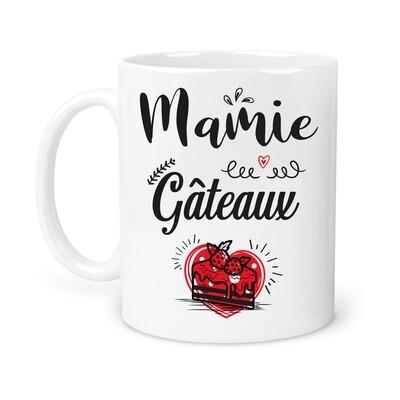"""Mug """"mamie gâteaux"""" personnalisable"""
