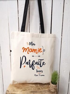 """Tote bag """"Mamie parfaite"""" personnalisable"""