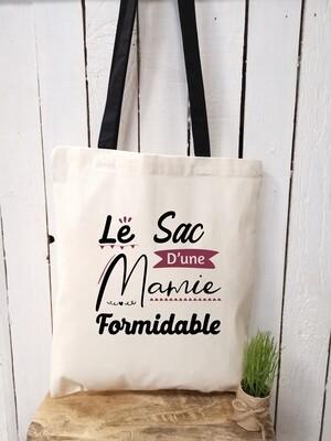 "Tote bag ""Mamie trop jolie"" personnalisable"