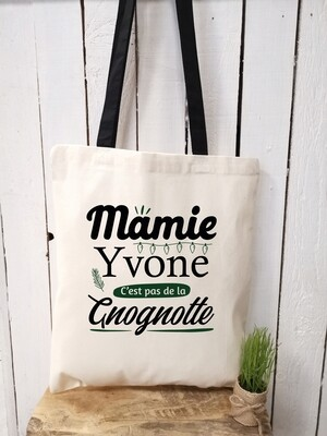 """Tote bag """"Mamie Yvone"""" personnalisable"""