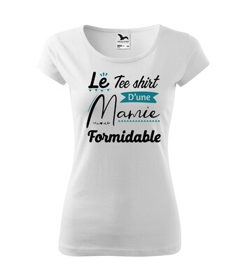 """Tee shirt femme """"Mamie formidable"""" personnalisable"""
