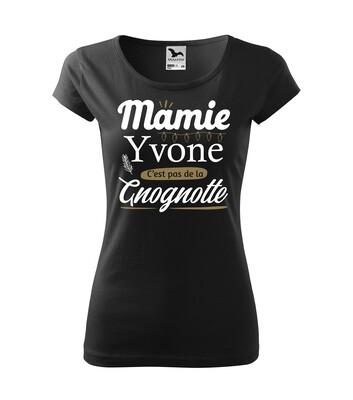 "Tee shirt femme ""Mamie gnognotte"" personnalisable"