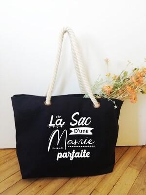 "Sac shopping style marin ""Mamie Parfaite"" personnalisable"