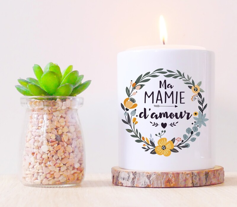 Pot en céramique mamie fleurs personnalisable