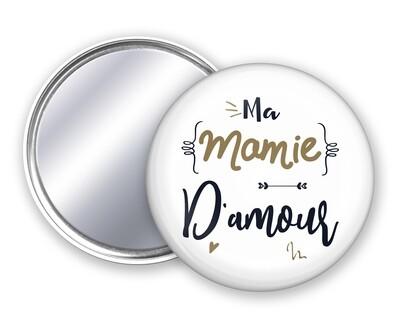 Badge miroir mamie d'amour personnalisable